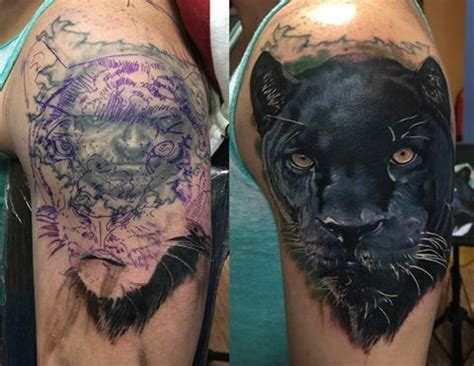 panther cover up tattoo designs 28 best cover up tattoos images on