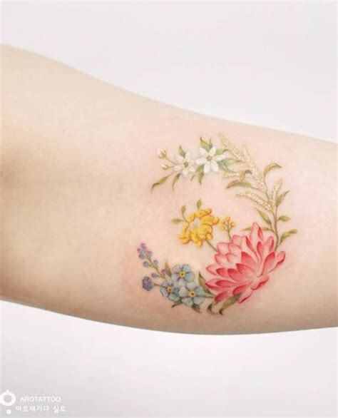 tattoo flowers small small colorful flowers tattoo colorful flower tattoo