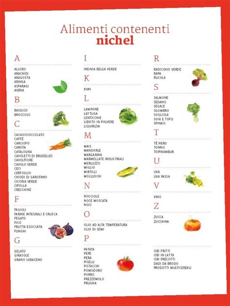 alimenti senza nikel intolleranza al nichel e verdure esiste una reale