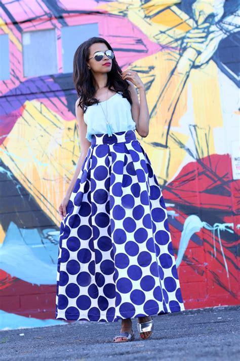 Polka Dot Maxi Skirt fashion lesson from 10 types of polka dots