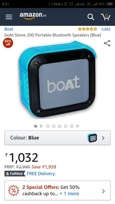 boat bluetooth speakers myntra boat stone 200 portable bluetooth speaker at just 1032