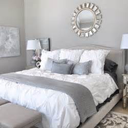 Grey Bedroom Decorating Ideas elegant modern bedroom design with knit blanket and beautiful devon