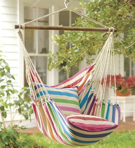 plow  hearth rainbow striped hammock swing cradle  hammock swing chair swinging
