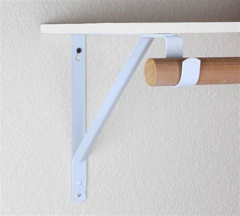 Closet Rod And Shelf Support Bracket 12 quot white closet utility shelf rod support bracket zj05 ebay