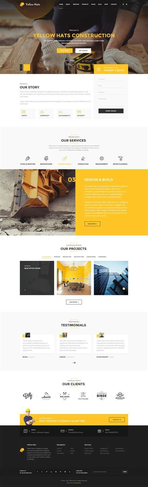 themeforest construction template 4731 best web design images on pinterest page layout