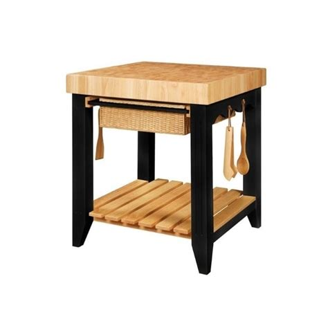 butcher block island with chairs powell furniture color story black butcher block kitchen