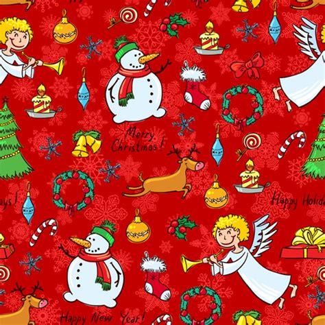 cute christmas pattern cute christmas seamless pattern vector 07 vector