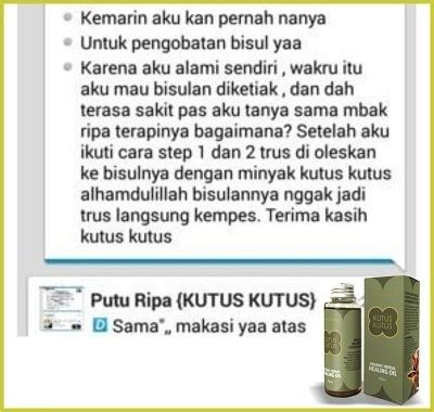 Minyak Kutus Kutus Bali minyak kutus kutus herbal alami untuk semua jenis penyakit