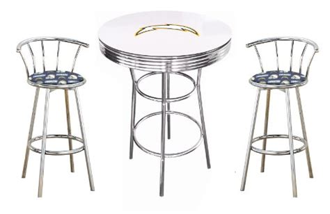 San Diego Chargers Bar Stool by How Do I New 3 White Bar Table Set Featuring Two 2