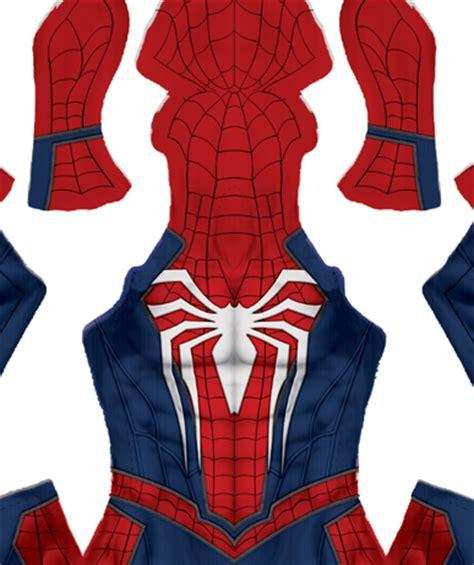 spiderman costume pattern template insomniac spider man video game pattern
