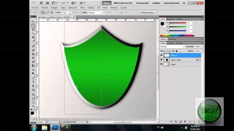 tutorial photoshop cs5 como hacer un logo como hacer escudo en photoshop cs5 youtube