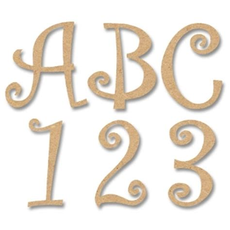 Greek Home Decor by 8 Quot Letters Numbers Amp Symbols Curly Style Mdf