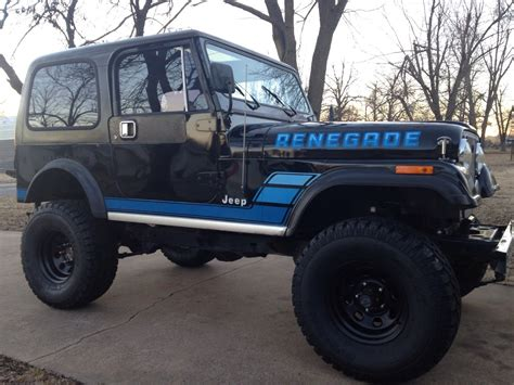 classic jeep renegade 1984 jeep cj 7 renegade survivor factory paint and