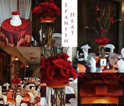 themed party in spanish spanish theme red burgundy floral pinterest