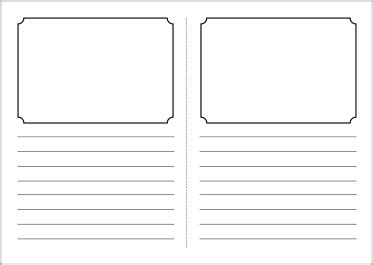 foldable story book writing frame template sb3831