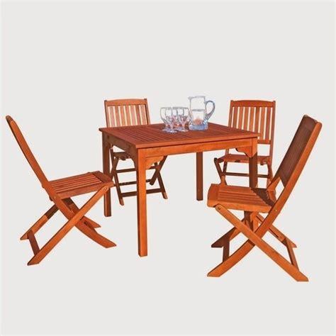 Wooden Patio Dining Sets 5 Wood Patio Dining Set V1401set13