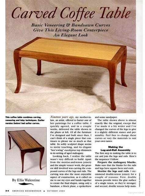 the american woodworker american woodworker coffee table plans woodworking