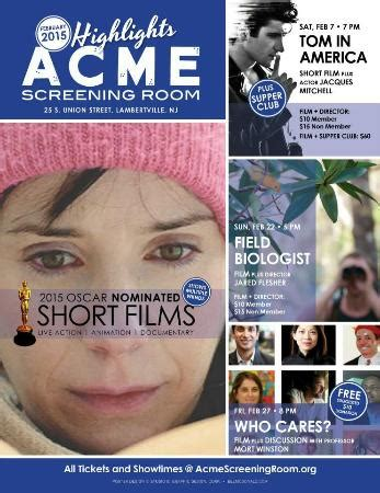 acme screening room great special events line up this month picture of acme screening room lambertville
