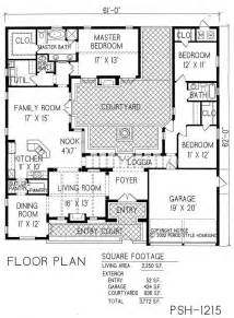 courtyard home plans we could spend an evening designing and drawing our