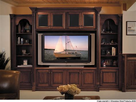 Diy Rustic Cabinets Showplace Cabinets Family Room Traditional Living