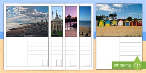 postcard template year 2 brighton postcard writing templates ks1 key stage one