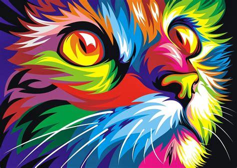 imagenes hd full color на холсте раскраски по номерам pb картина радужный кот