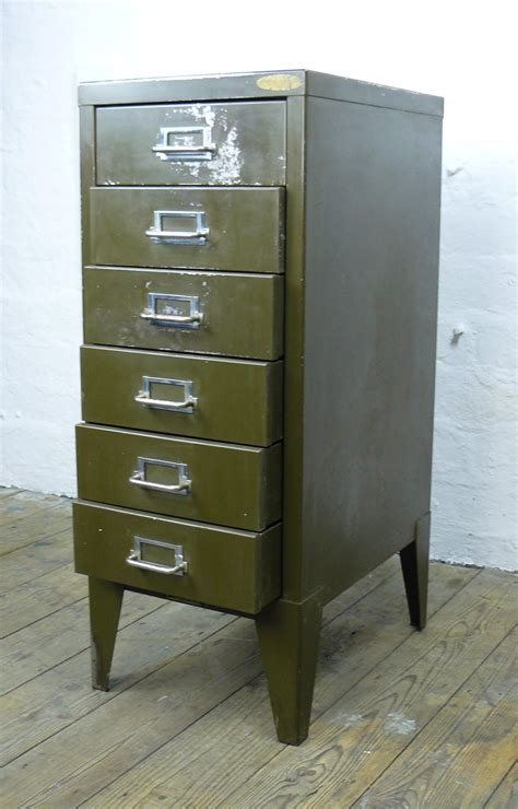 Small Drawer Filing Cabinet by Small Vintage 1930 Six Drawer Filing Cabinet In Office Green