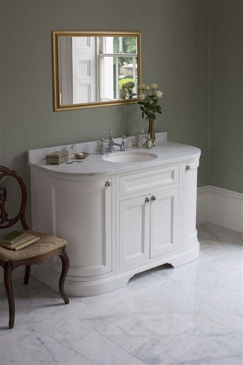 Bathroom Vanities Burlington Matt White 134 Curved Freestanding Vanity Unit With Doors And Drawers From Burlington Bathrooms