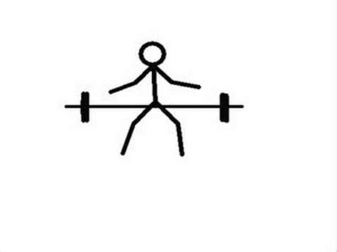 Stick Dumbell stick figure weight lifting animation