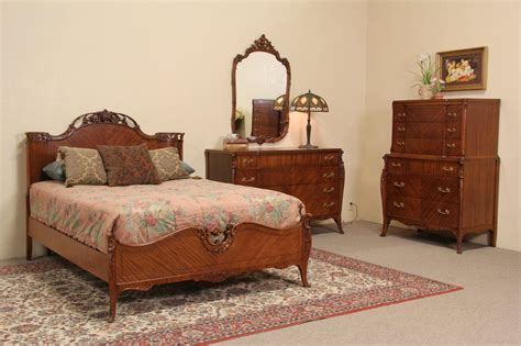 sold bedroom set full size 1930 s vintage carved walnut sold french style 1940 s vintage joerns 4 pc full size