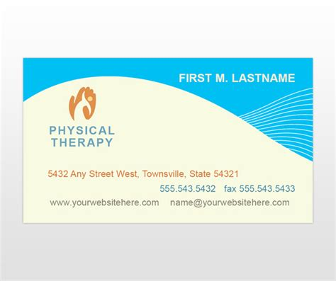 therapy business card templates occupational physical therapy services business card
