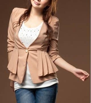Jaket Katun Tebal Import Fashion Wanita 1 blazer kerja import cantik 2013 model terbaru jual