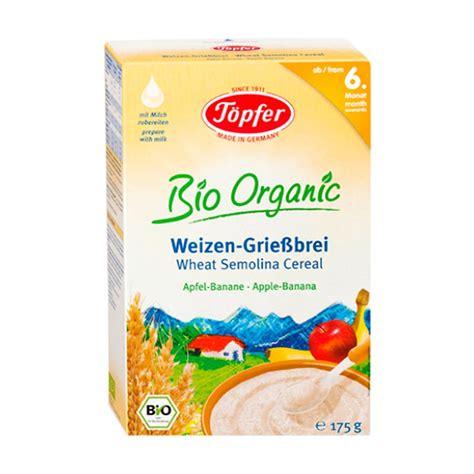 Topfer Wheat Semolina Milk Cereal jual topfer wheat semolina apple banana cereal bayi 175 g