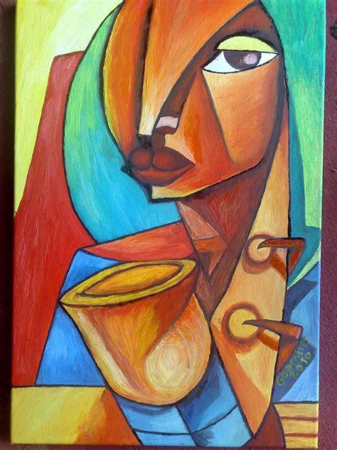 artes visuales imagenes no realistas pintor pintura a oleo cubismo africa