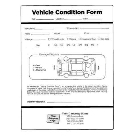 rental condition report template vehicle condition report templates word excel sles