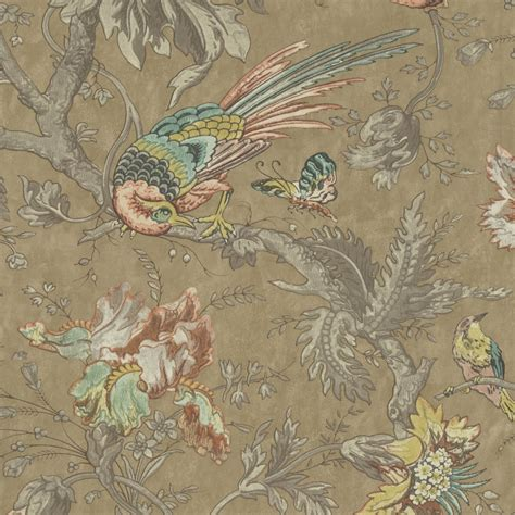 crowe hall lane reade bird print wallpaper  greene