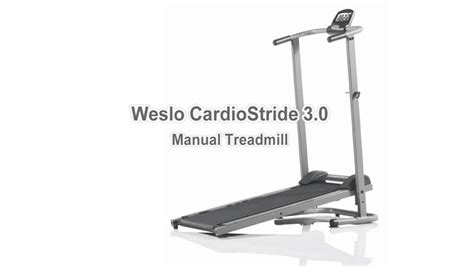 Treadmill Manual Moscow 3 F weslo cardiostride 3 0 manual treadmill
