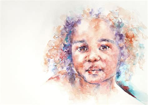 Home Decor Curtains Online Winsome A Child From Africa Painting By Stephie Butler