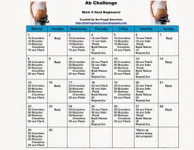 the frugal exerciser the 30 day ab challenge for beginners