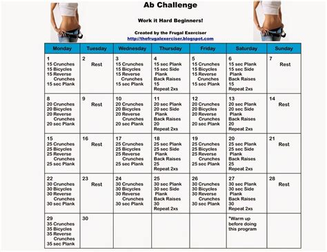 day ab challenge  beginners