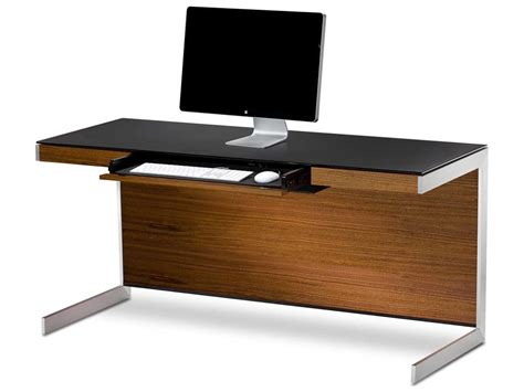 60 x 24 desk bdi sequel 60 x 24 rectangular walnut computer