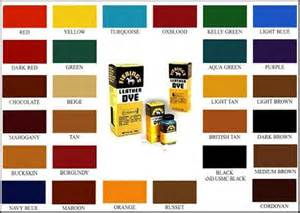 fiebings leather dye colors fiebings chart brown hairs