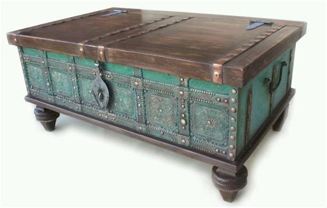 Chest Style Coffee Tables Retro Coffee Table Chest Trunk Style Ottoman Storage Indian Dowry Side Table In St Ives