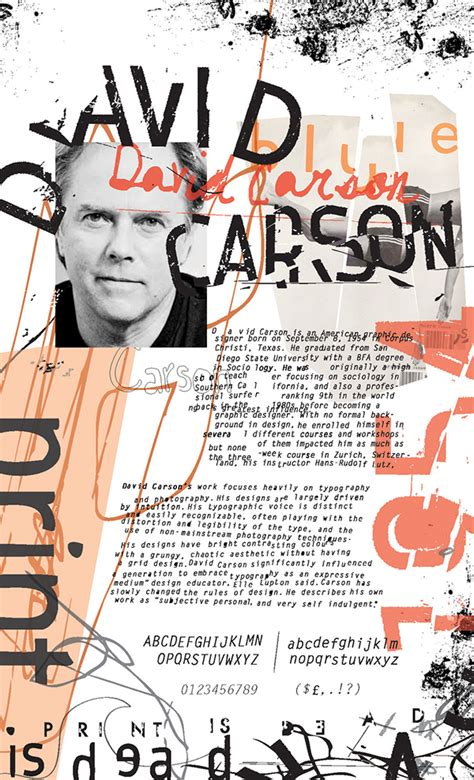 favourite designers david carson on david carson guns and grunge
