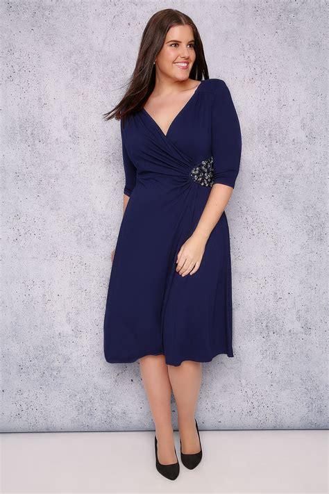 Embellisments Ukuran 16 7 X 18 5 Kode 14 2019 Baby Set jo blue wrap dress with embellishment detail plus size 16 to 32