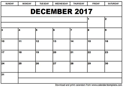 Calendar 2017 July To December December 2017 Calendar Template Printable 2017 Calendars