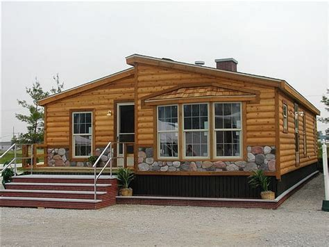 log cabin wide manufactured homes vintage