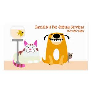 Pet Sitting Services Double Sided Standard Business Cards (Pack Of 100