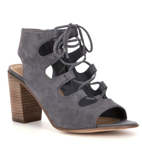 steve madden lace up sandals steve madden nilunda lace up ghillie sandals in gray lyst