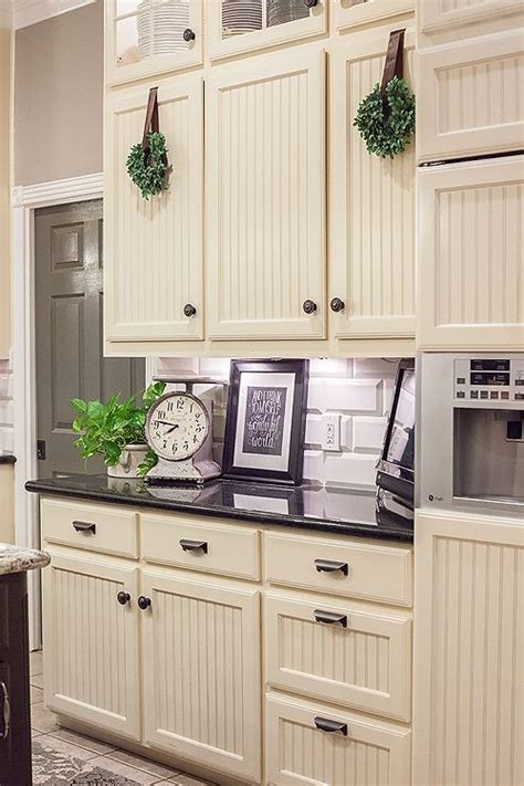 beadboard with trim kitchen inspiration pinterest adding bead board and molding to my cabs like this